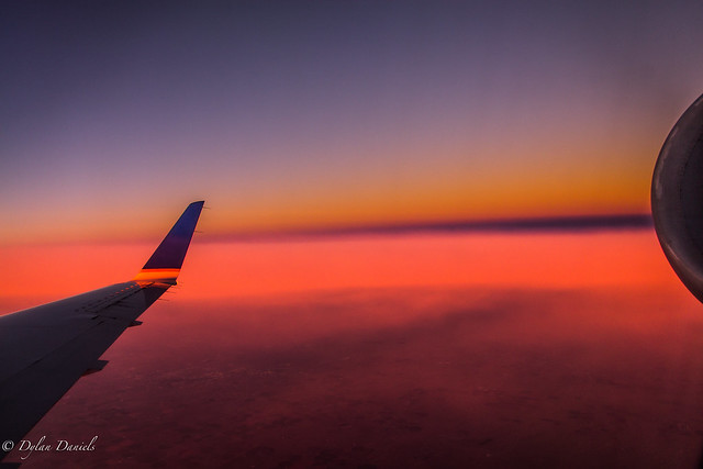 Sunrise 30,000 feet #flickr12days