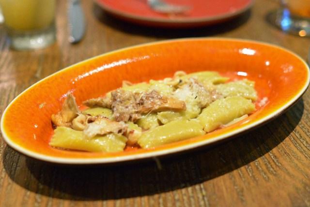 Sunchoke Agnolotti, Beaufort Cheese, Chanterelles, Brown Butter
