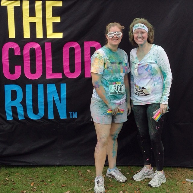 After!! So much fun and we ran the whole time! #happiest5k #colorrun