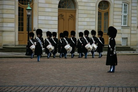 Changing of the Guard ceremony, Royal Palace, Copenhagen, Denmark
