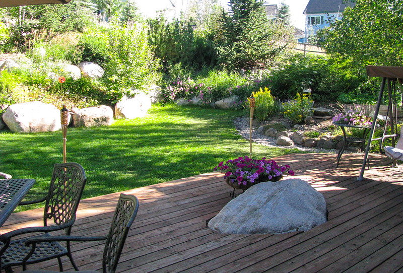 deck, outdoor living in Steamboat Springs, backyard, 410 Kelhi Court for sale