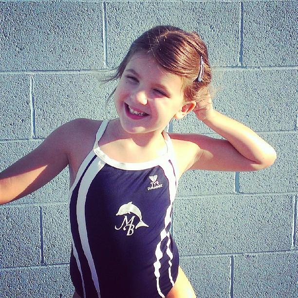 Swim team practice...