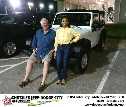 Thank you to Michael Ahnhut on your new 2014 #Jeep #Wrangler from David Walls and everyone at Dodge City of McKinney! #RollingInStyle by Dodge City McKinney Texas