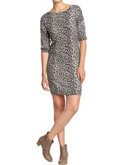 old navy leopard sweater dress