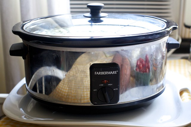 slow-cooker in the living room
