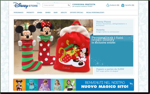nuovo portale www.disneystore.it