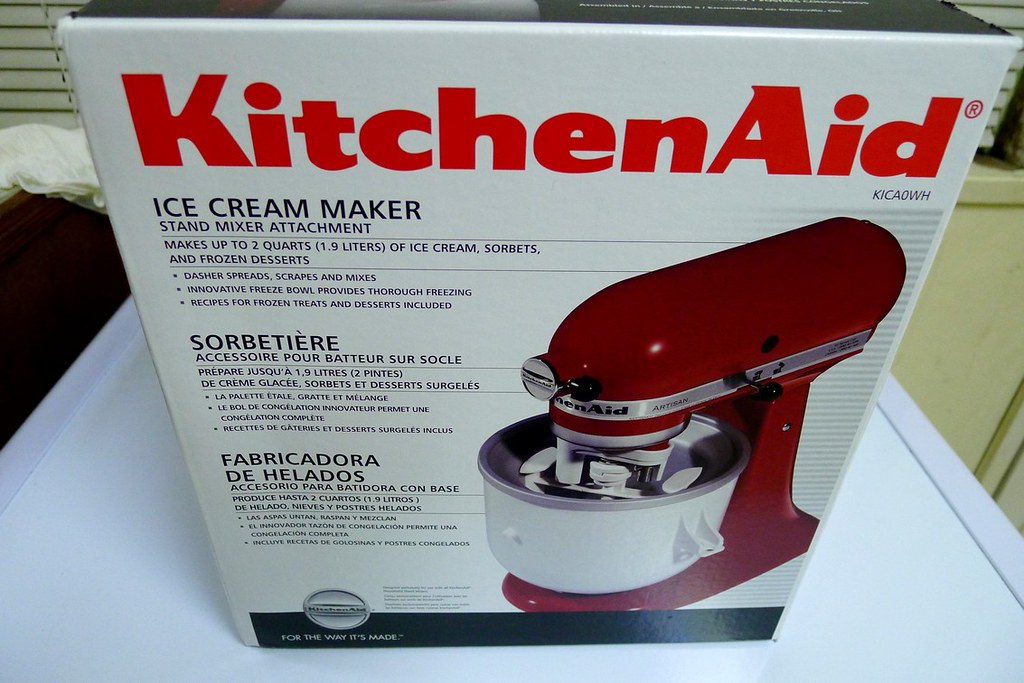 Homemade Ice Cream With Kitchenaid Ice Cream Maker Attachment Review Delicious