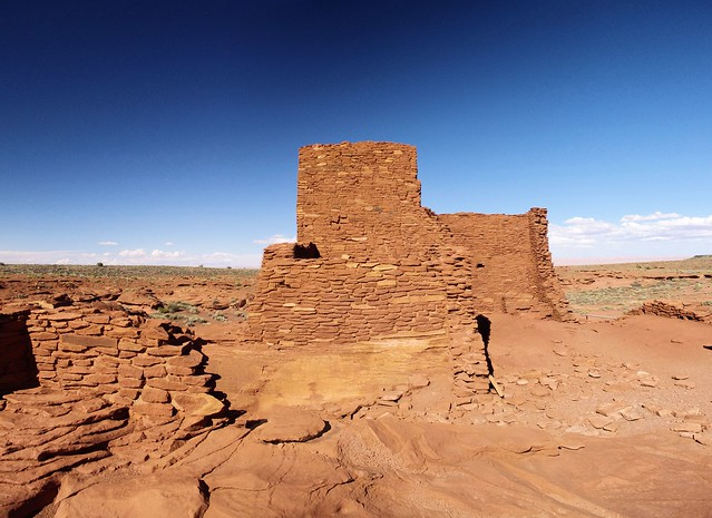 Wukoki ruin (composite image) , Wupatki National Monument, north-central Arizona, near Flagstaff, October 6, 2011