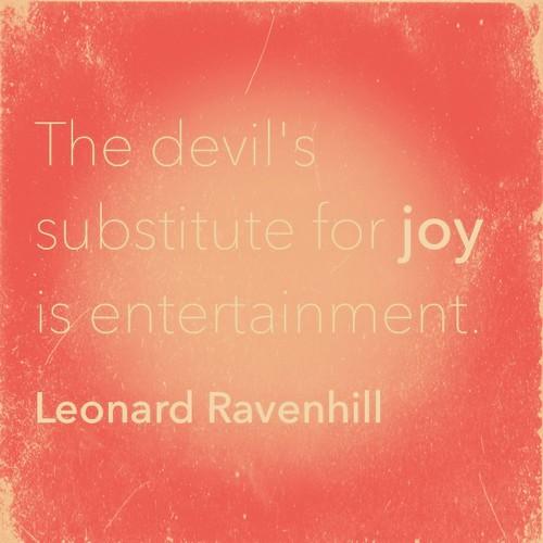 Joy or Entertainment