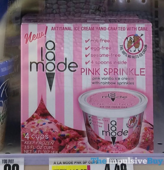 A la Mode Pink Sprinkle Ice Cream Cups