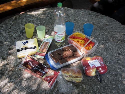 Picknick auf der Radtour Grenzgängerroute (Mittlerer Teil)