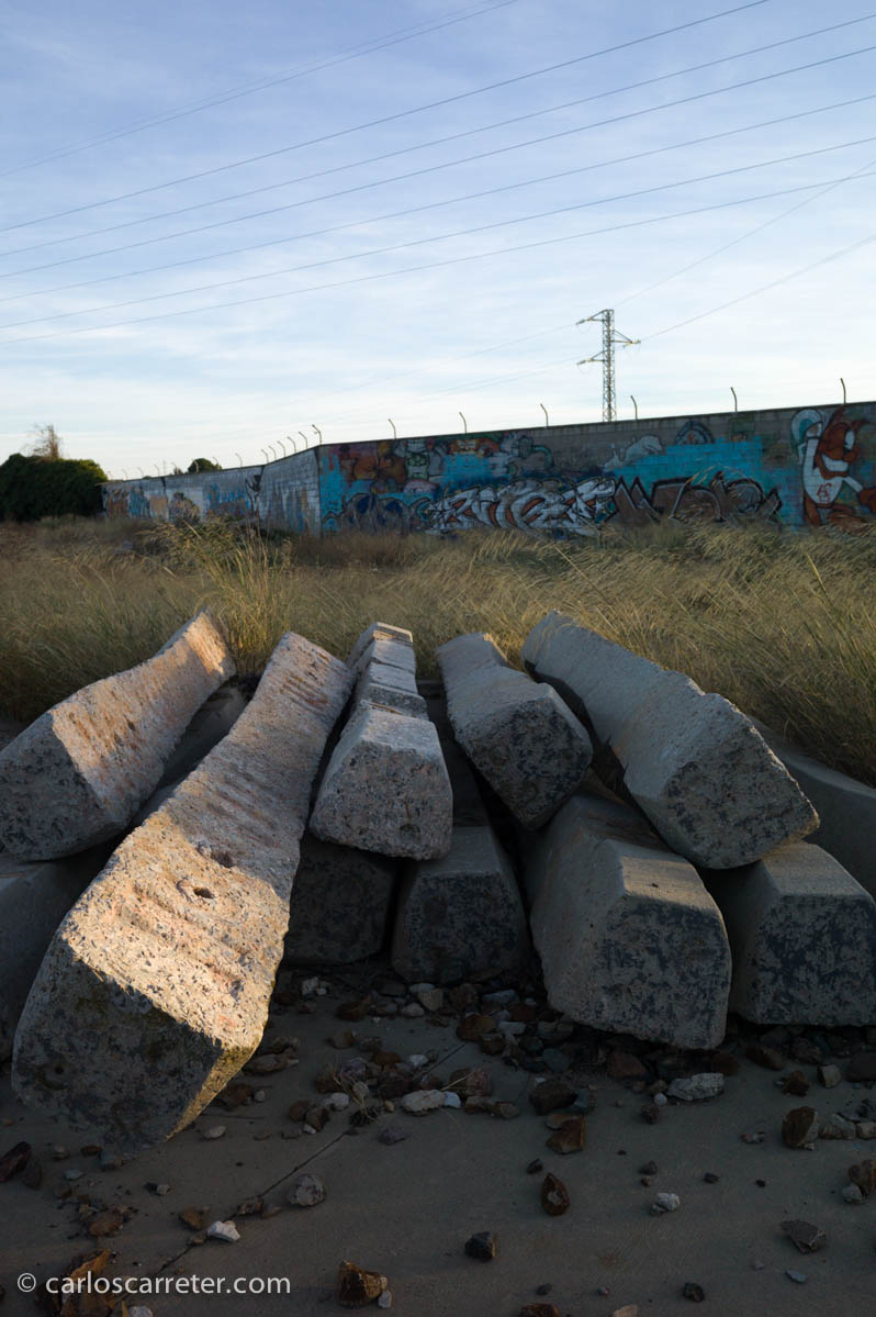 Junto al ferrocarril