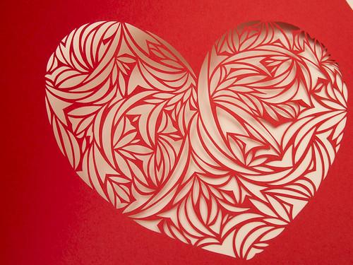Heart paper cut work-9