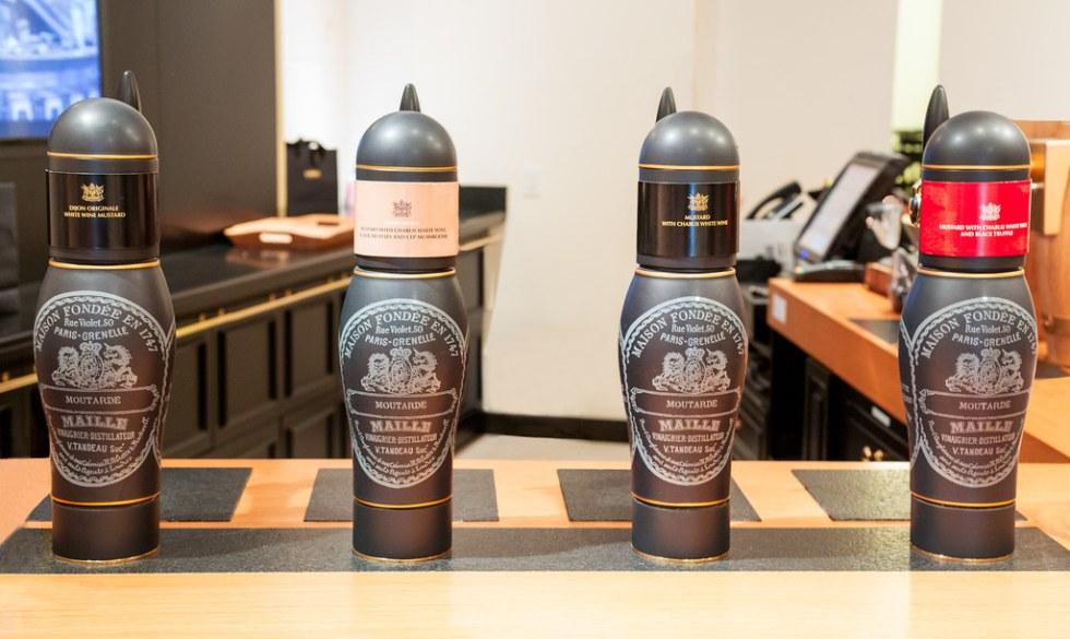 La Maison Maille mustard pumps