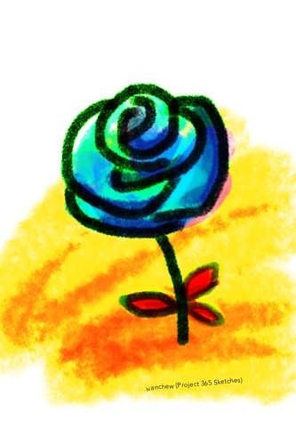 """Martian rose"" (#243: Project 365 Sketches)"