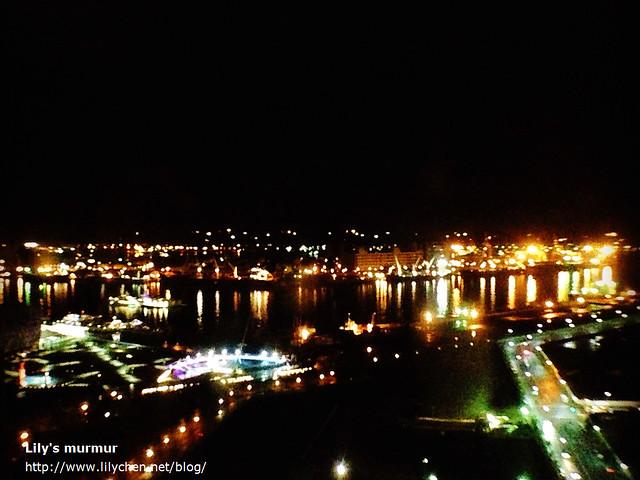 用手機拍的夜景一張,挺模糊的,但還保有當時的氣氛。