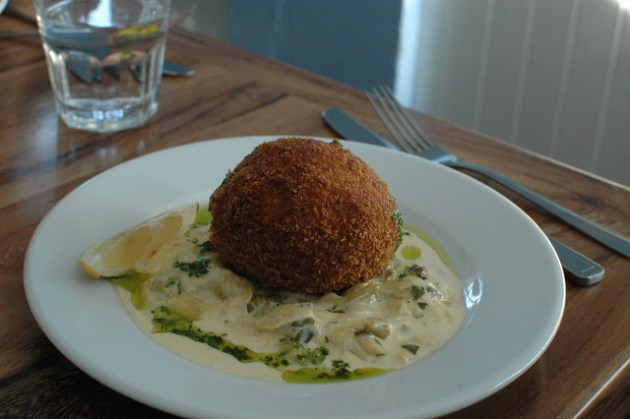 Cafe Fish - Smoked Salmon Scotch Egg