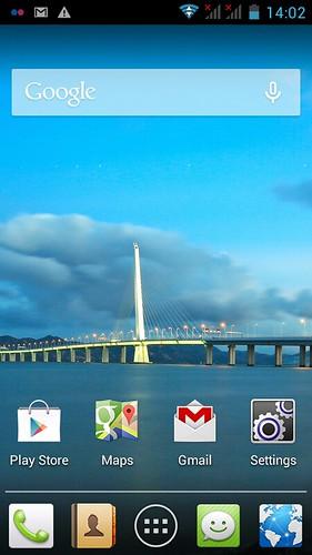 หน้าจอ Home screen ของ Huawei Ascend Y600