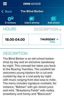 Listing for The Blind Barber