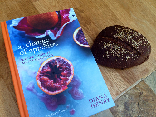 New Diana Henry book, and the black bread from it.