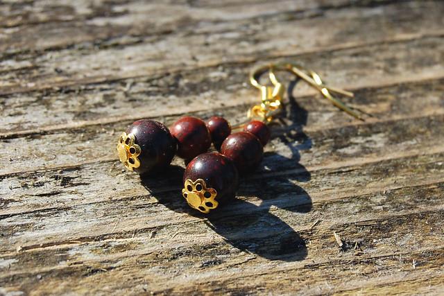 Studio Paars - handmade gemstone earrings Brecciated Jasper/ handgemaakte edelsteen oorbellen