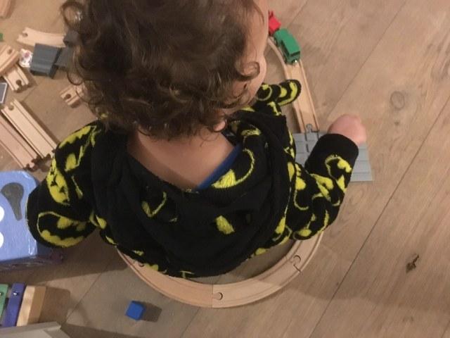 houten speelgoed treinbaan peuter