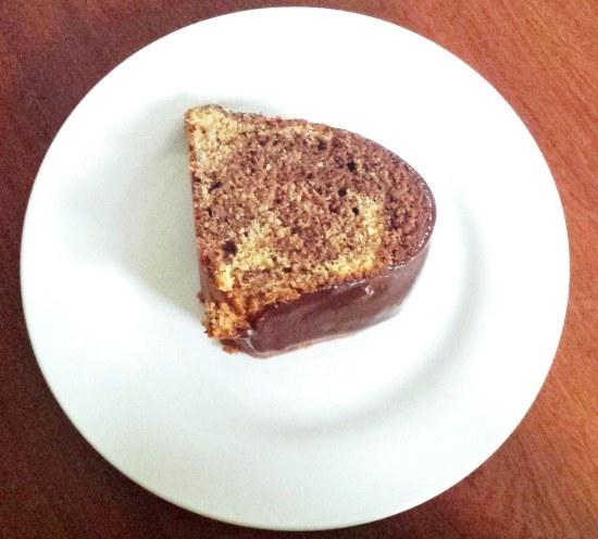chocolate and caramel marble bundt cake