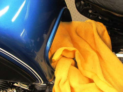 Protecting Frame Tubes when Removing Gas Tank