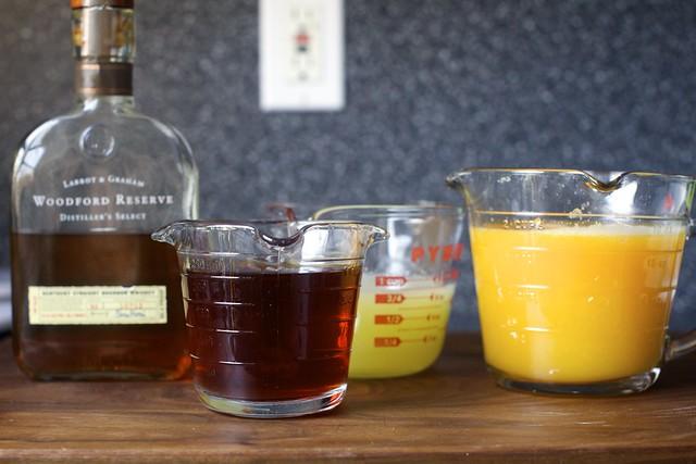 bourbon, tea, lemon and orange juice