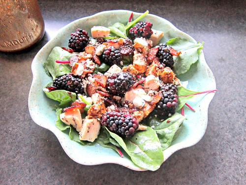 Blackberry, Bacon, Blue Cheese Salad w Honey Balsamic Vinaigrette