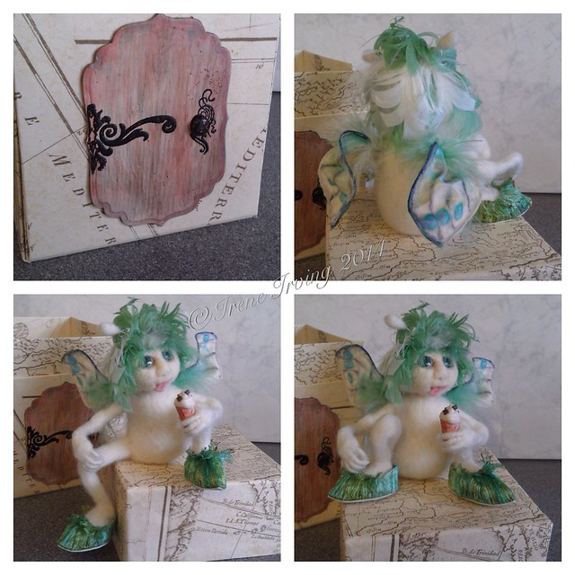 Needlefelted fairy