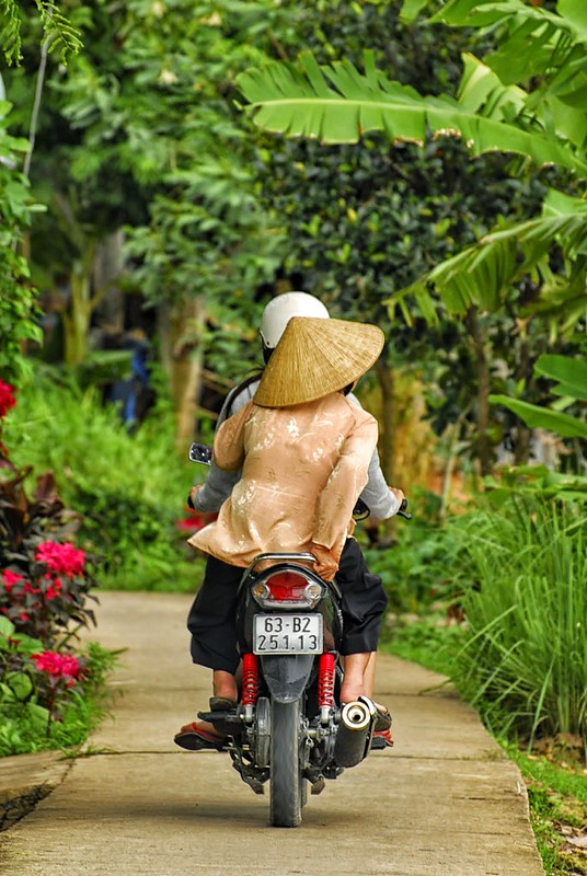 The lady on the motorbike