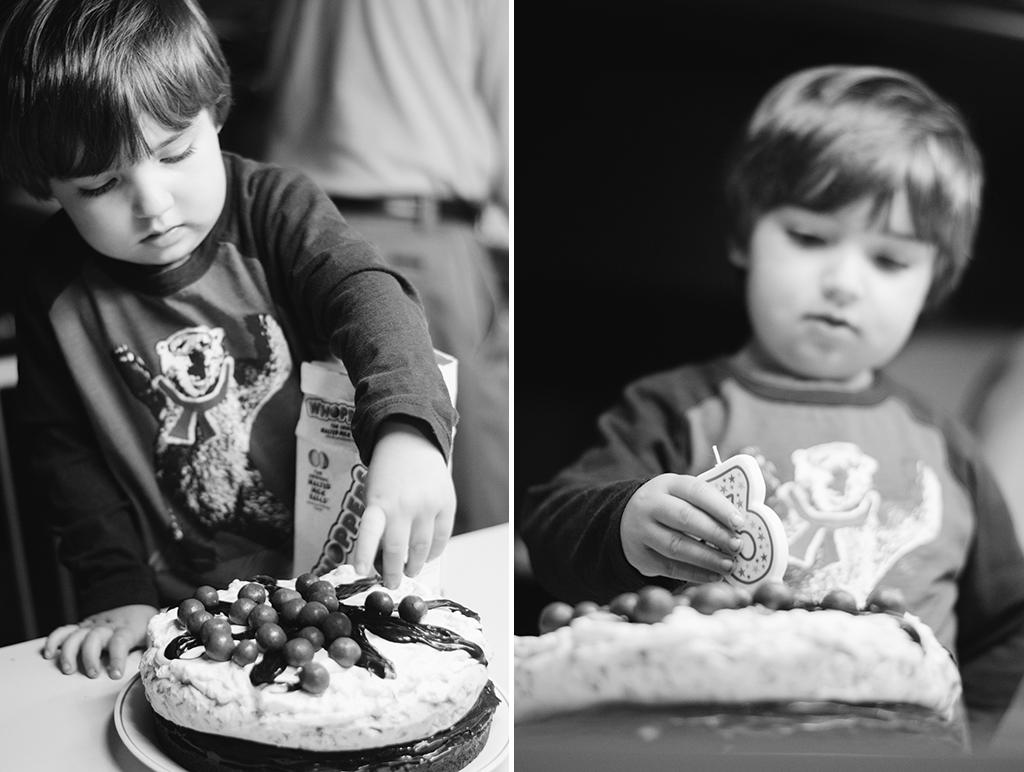 zane birthday collage bw