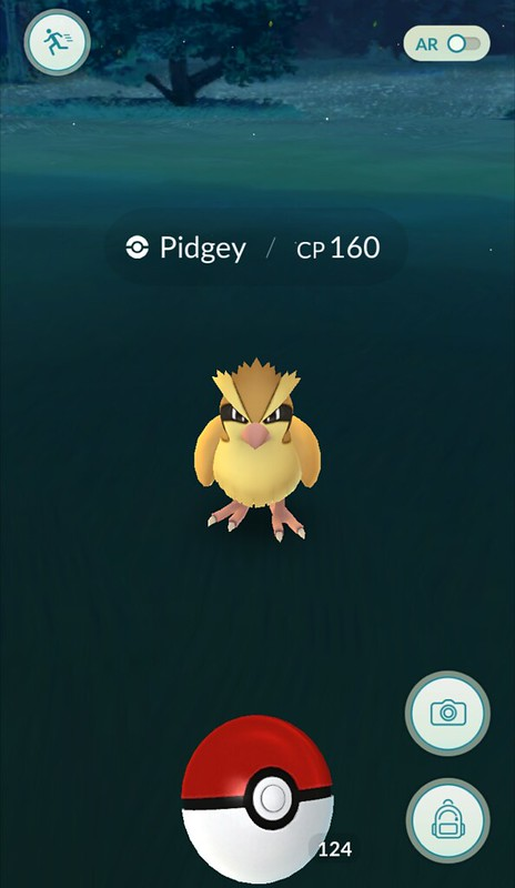 pokemon go vangen pidgey pokeball