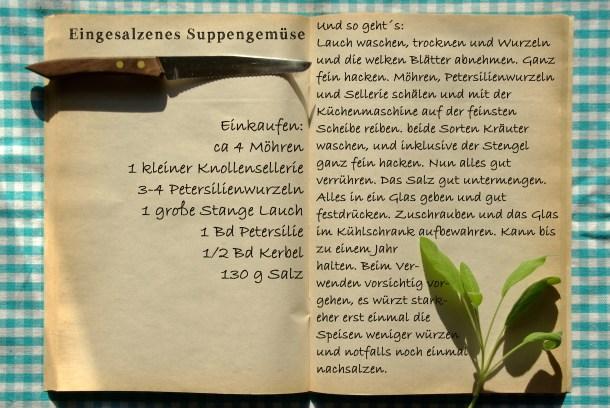 Einkaufszettel Suppengemüse Bad Reichenhaller ohne Logo