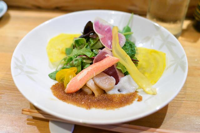 Seafood Salad snow crab, seared tuna, octopus, surf clam, matsuhisa dressing
