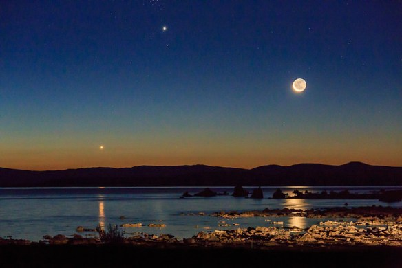 Venus Jupiter Moon Conjunction