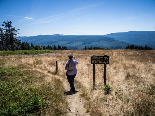 Laura at Dolason Prairie at Redwoods National Park