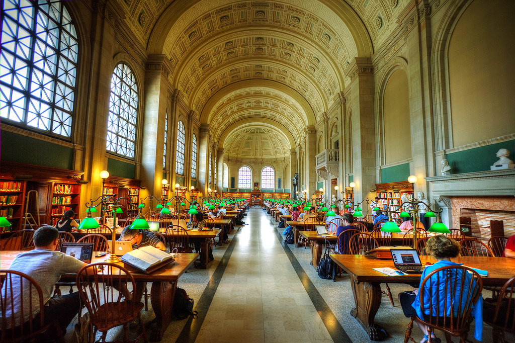 Bates Hall Reading Room, Boston Public Library.