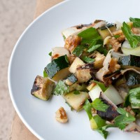 Grilled Zucchini and Leek Salad