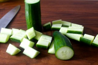 english cucumber from the grocery