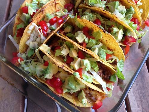 Crunchy baked tacos
