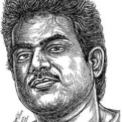 YUVAN SHANKAR RAJA Music Director Portrait in my Pen drawing by  Artist Anikartick,Chennai,Tamil Nadu,India.