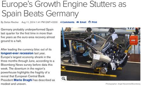 14h12 WSJ España gana a Alemania en recuperación económica Uti 465