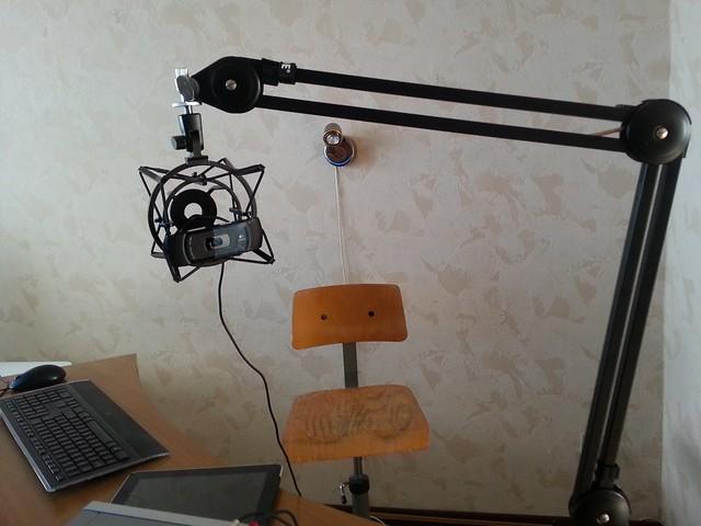 microfoon camera arm