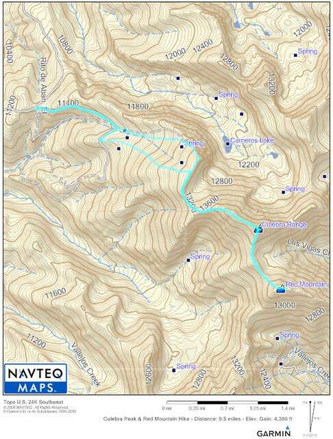 Culebra Peak Topo Map