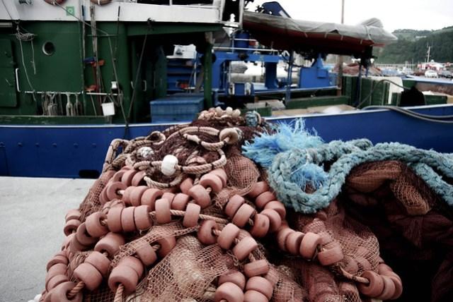 Redes en el puerto de Getaria - CC Roser Martínez