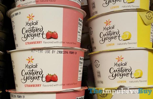 Yoplait Custard Yogurt (Strawberry and Lemon)
