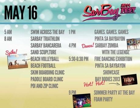 SarBay Fest 2014 Schedule