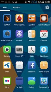 App tray ของ Doogee Valencia